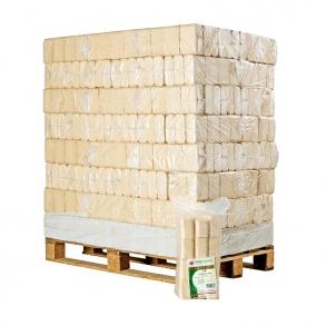 Træbriketter på paller