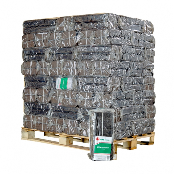SEDI tørv briketter ca 924 kg - overnight briketter