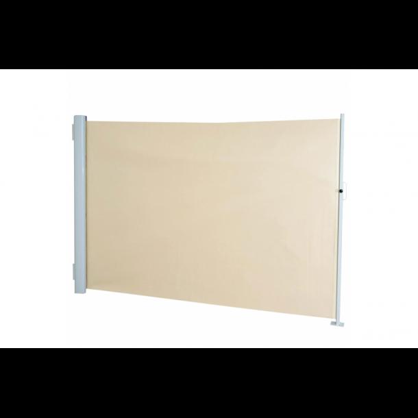 Læskærm 300x180cm - creme/beige hvid læsejl og sidesejl