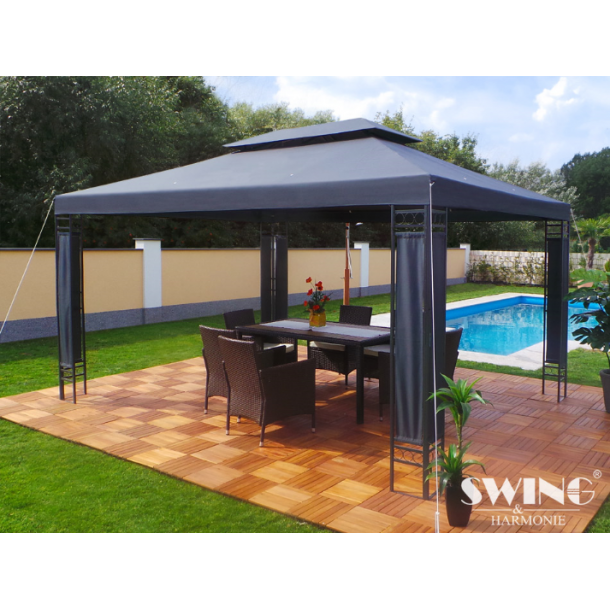 Havepavillon 3x4m - antracit