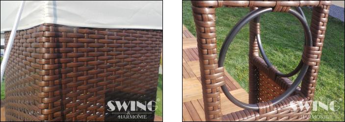 Polyrattan havepavillon 3x4m - brun polyrattan - Havepavilloner og ...