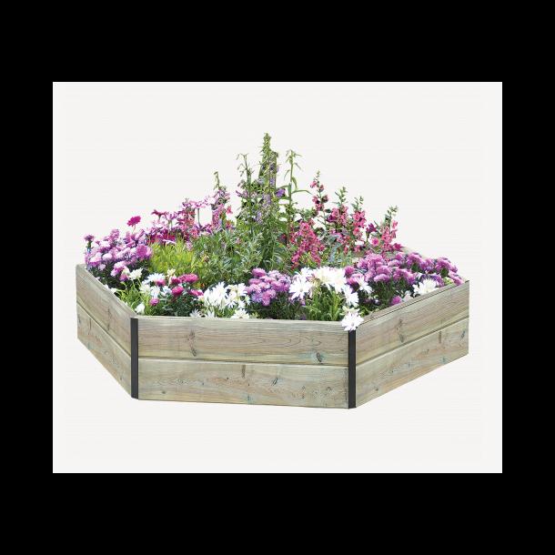 Sekskantet højbed træ 24x60x60x60cm - blomsterbed fra Hortus ...