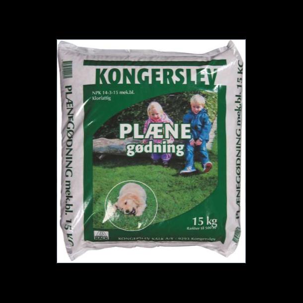 Kongerslev NPK 14-3-15 Plænegødning - 15 kg