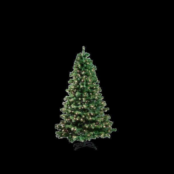 Juletræ på 150 cm med 170 LED - kunstigt plastik juletræ