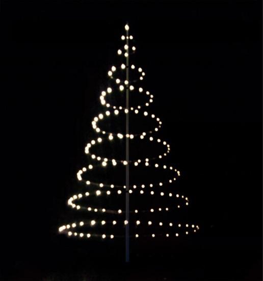Flagstangslys, lyskæde, lystræ, lyscirkler til flagstang på 8-9 meter