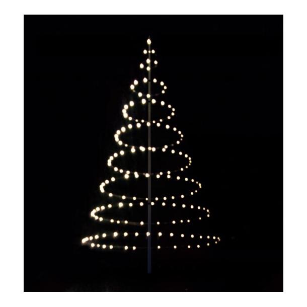 Julelys til flagstang med 360 LED lys - lystræ til 8-9 meter stang