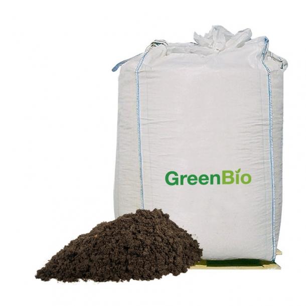 Varmebehandlet kompost - 1000 liter i bigbag fra GreenBio
