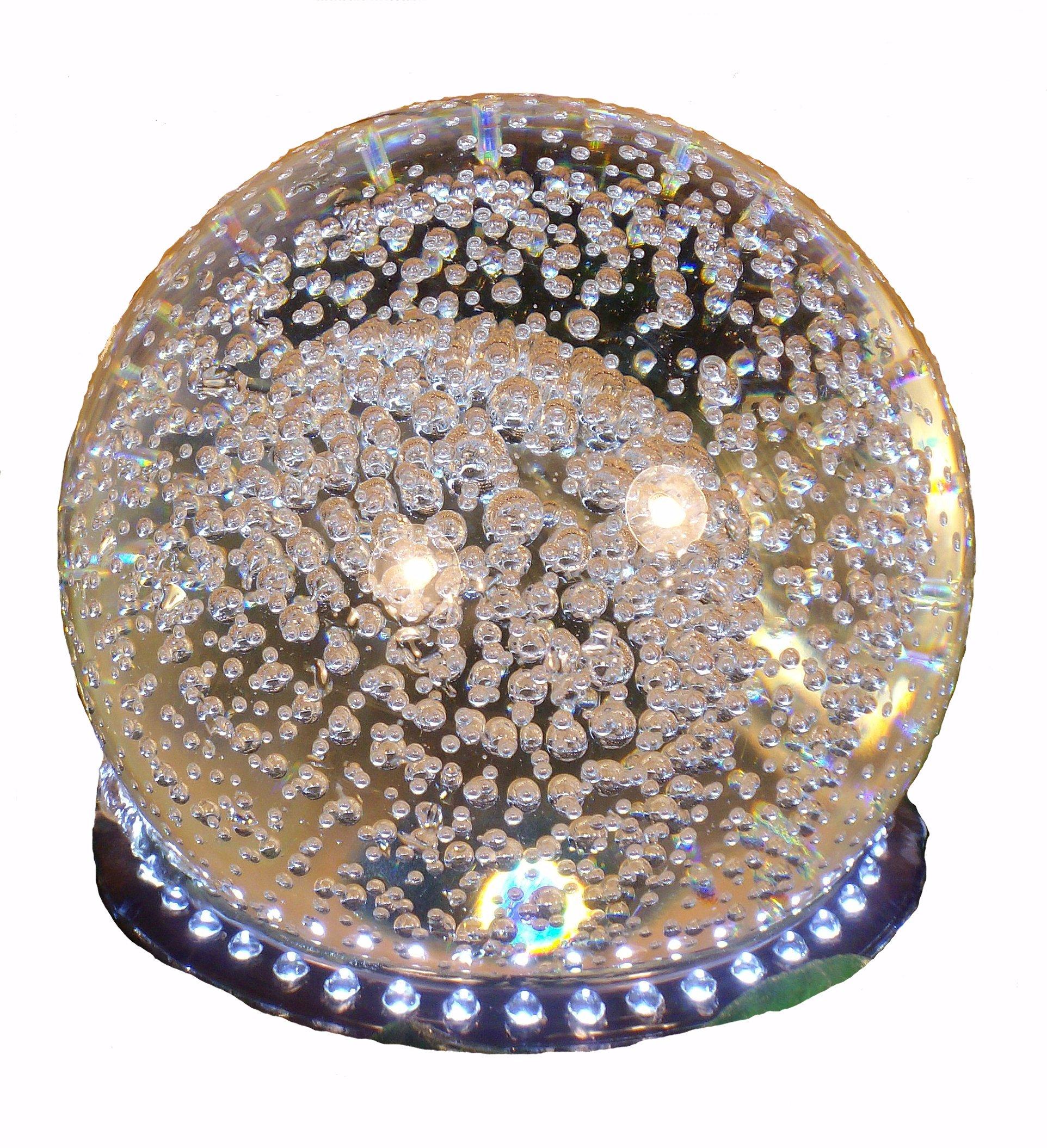 Ny Roterende kugle med LED lys til vandfontæne - 24 dioder, hvidt lys AJ55