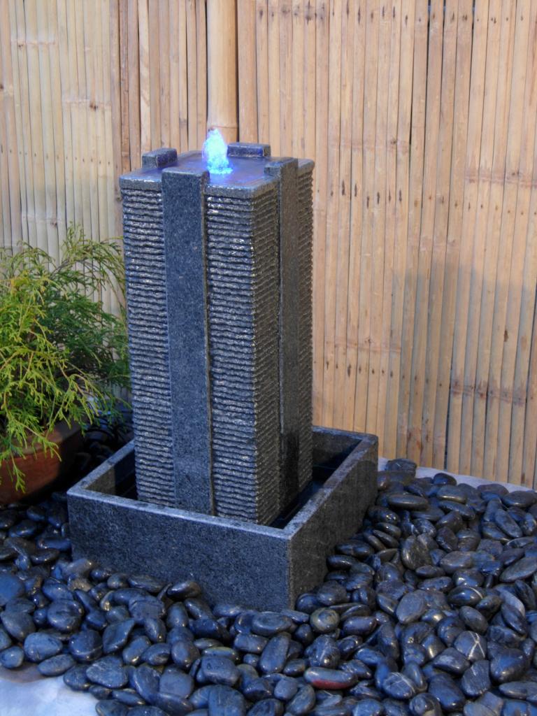 Indendørs og udendørs vandfontæne/vandkunst i granit