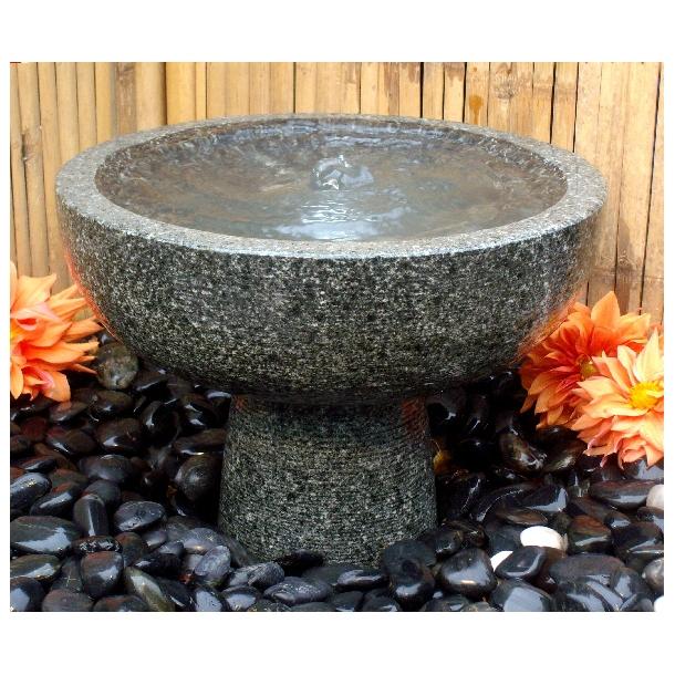 Fuglebad i granit - havefontænen Gral