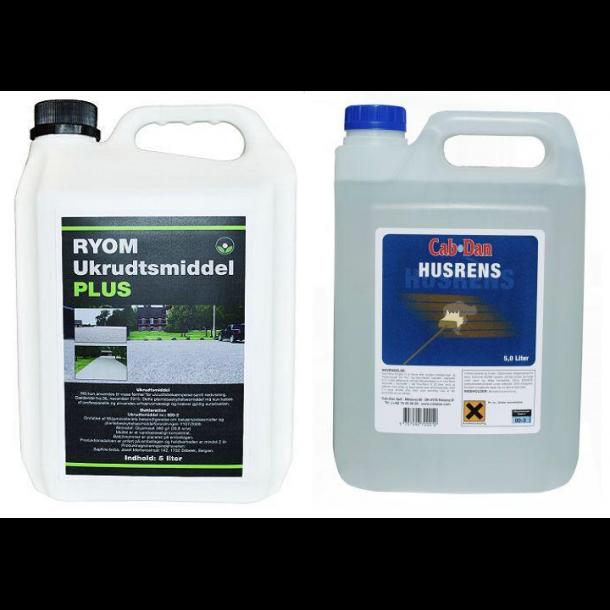 Pakketilbud 5L glyphosat 360 og 5L husrens - Ukrudtsmiddel - HAVEHOBBY.DK