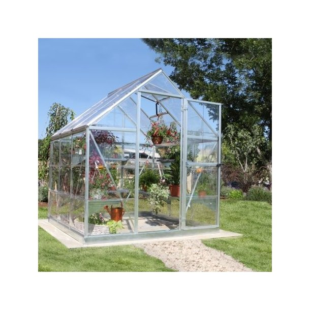 Nature Harmony drivhus 3,26 m2 i aluminium og polycarbonat fra Palram