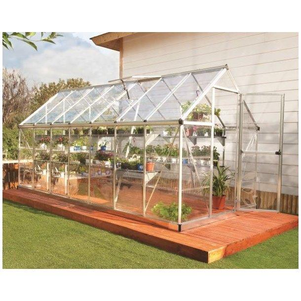 Nature Harmony drivhus 7,60 m2 i aluminium og polycarbonat fra Palram
