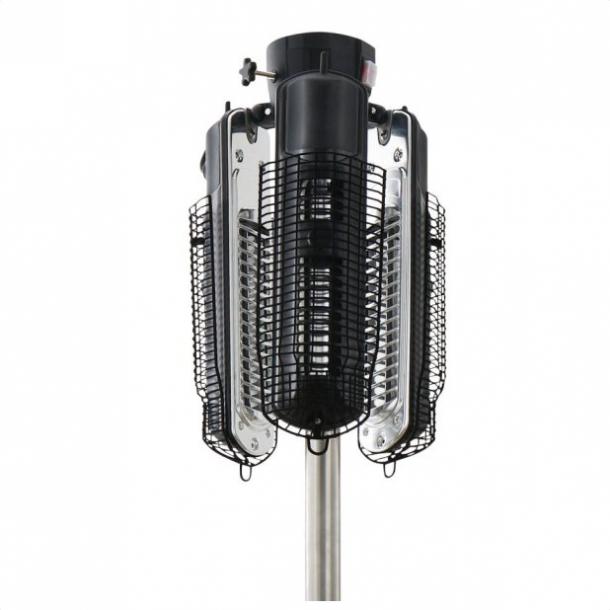 Parasolvarmer - varmelamper 650/1350/2000 Watt med fjernbetjening