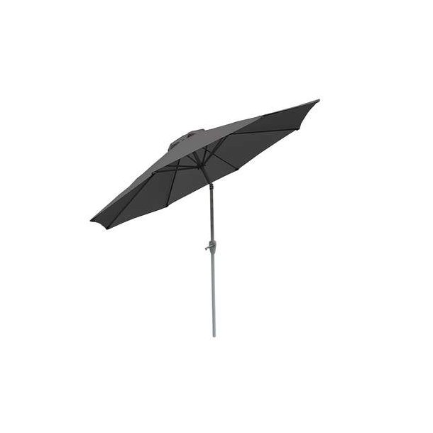 Haveparasol i aluminium med knæk/vip Ø270 cm - antracit parasol
