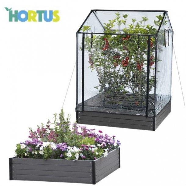 Hortus WPC komposit højbed og bed drivhus 134/154 x 110 x 110 cm