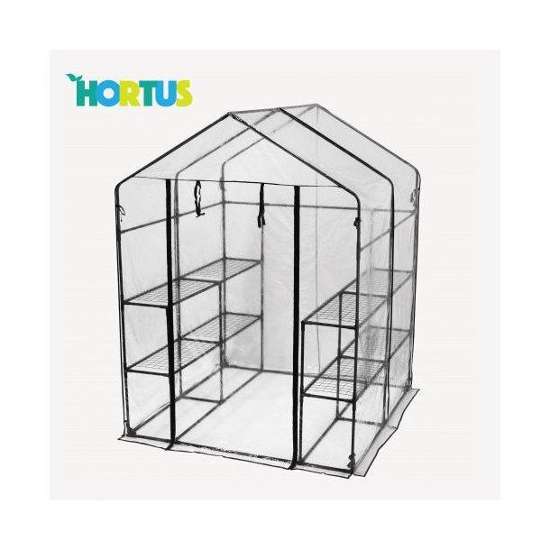 Hortus plastdrivhus XL 143x143x195cm - plastik væksthus/drivhus