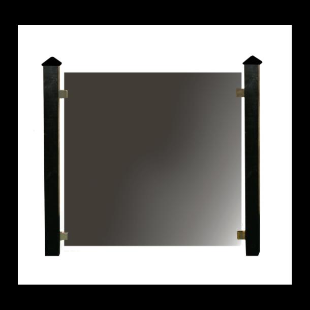 Hortus glashegnspakke - 3 moduler med stolper, stolpehat og beslag