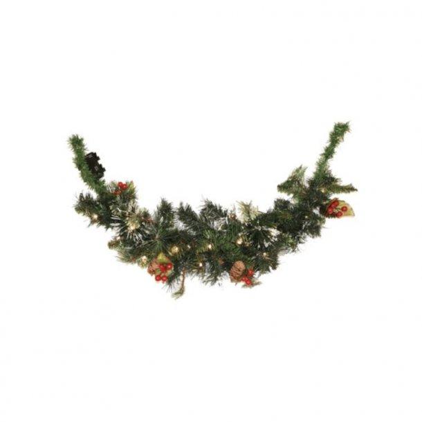 Juleophæng - NSH Nordic Winter 74 cm juleophæng med lys og pynt - guirlande