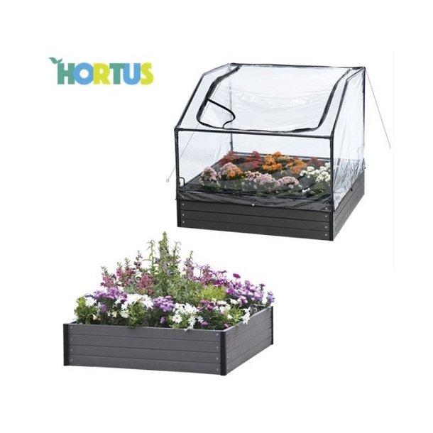 Hortus WPC komposit højbed og bed drivhus 64/94 x 110 x 110 cm