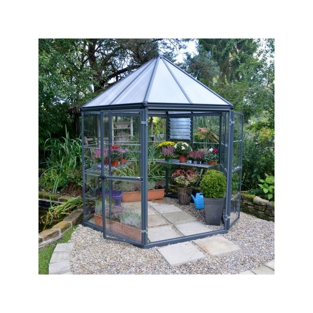 Usædvanlig Oasis hexagonal drivhus - sekskantet 6,1 m2 polycarbonat drivhus LZ28