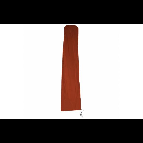 Overtræk til parasol 3x3 - vandtæt terracotta cover til haveparasol