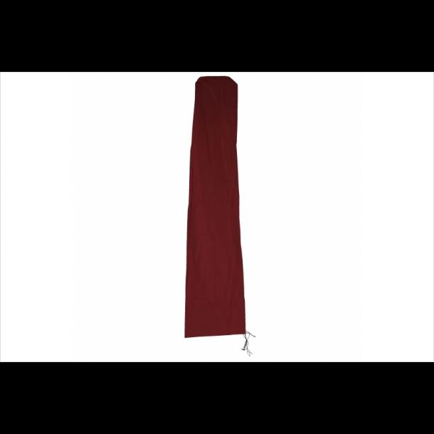 Overtræk til parasol 5 meter - vandtæt bordeaux rød cover til haveparasol