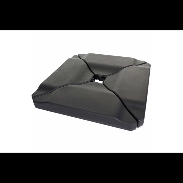 Parasolfod - fliser/vægt af plast til krydsfod til haveparasol/markedsparasol