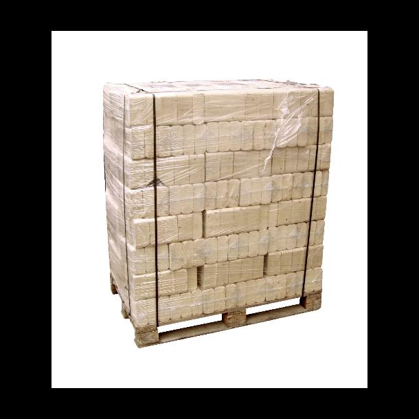 RUF træbriketter - 960 kg lyse briketter