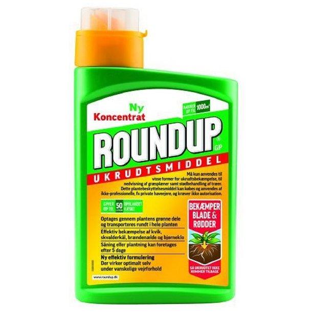 RoundUp 1 Liter - RoundUp koncentrat - glyphosat 120 g/l ukrudtsmiddel