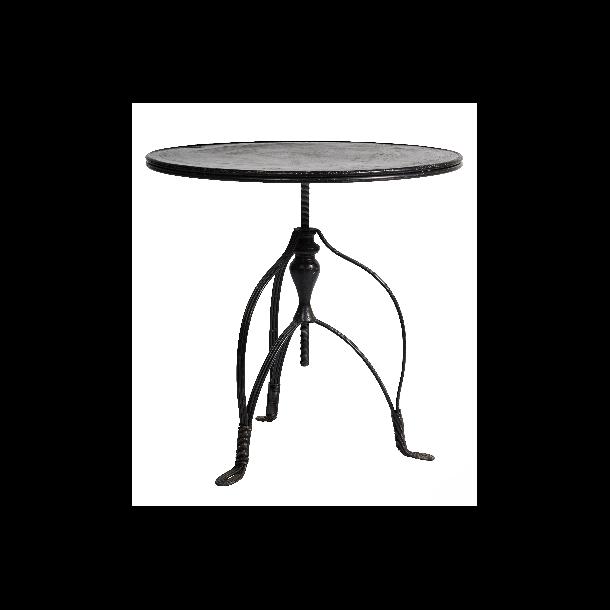 Køb nyt havebord   rundt cafebord/havebord i støbejern hos havehobby