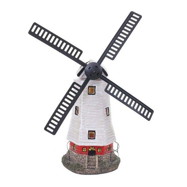 Solcelle vindmølle med LED-lys