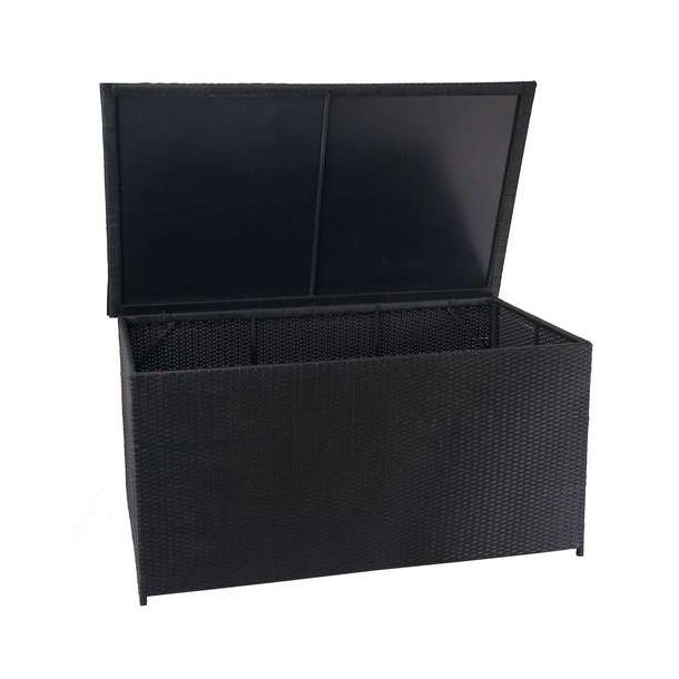 Polyrattan hyndeboks - stor sort hyndeboks på 950 liter - 80x160x94 Basis model