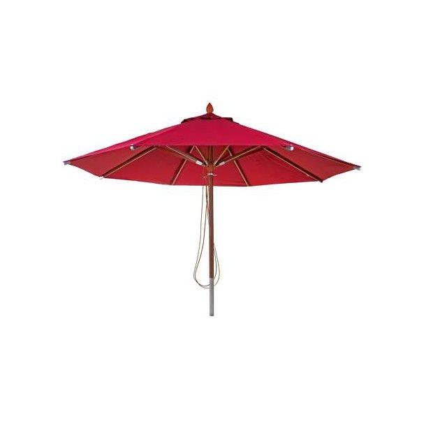 Træparasol Ø400 cm - luksus bordeaux rød parasol - haveparasol Ø4 meter