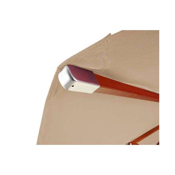 Moderne Træparasol Ø400 cm - luksus creme/beige parasol - haveparasol Ø4 IS-56