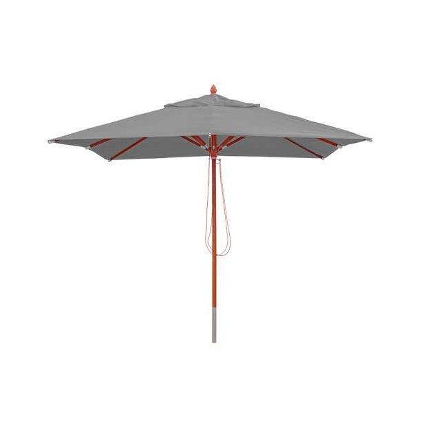 Træparasol - luksus antracit parasol - haveparasol 3x3 meter