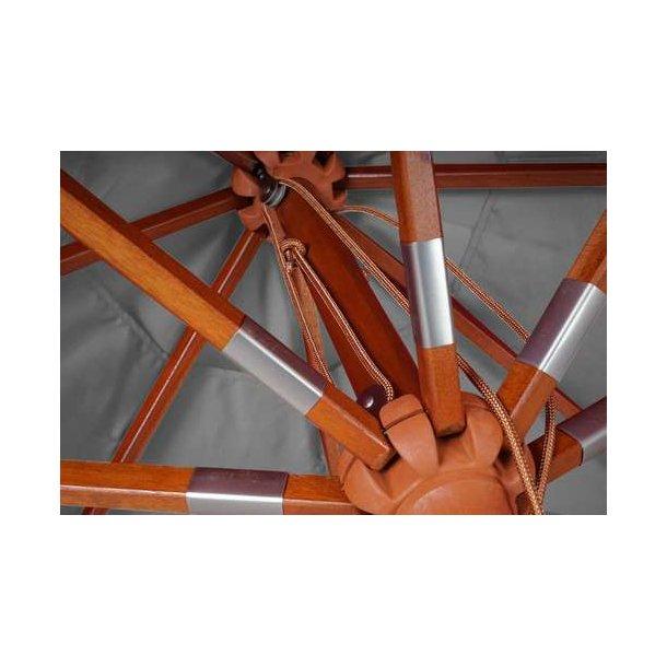 Kendte Træparasol - luksus antracit parasol - haveparasol 4x4 meter GZ-75