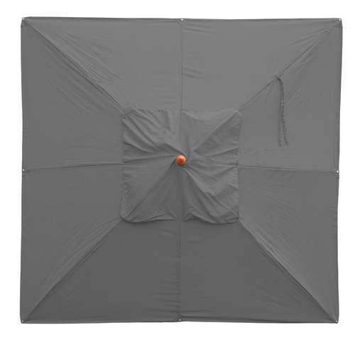 Afholte Træparasol - luksus antracit parasol - haveparasol 4x4 meter QI-91