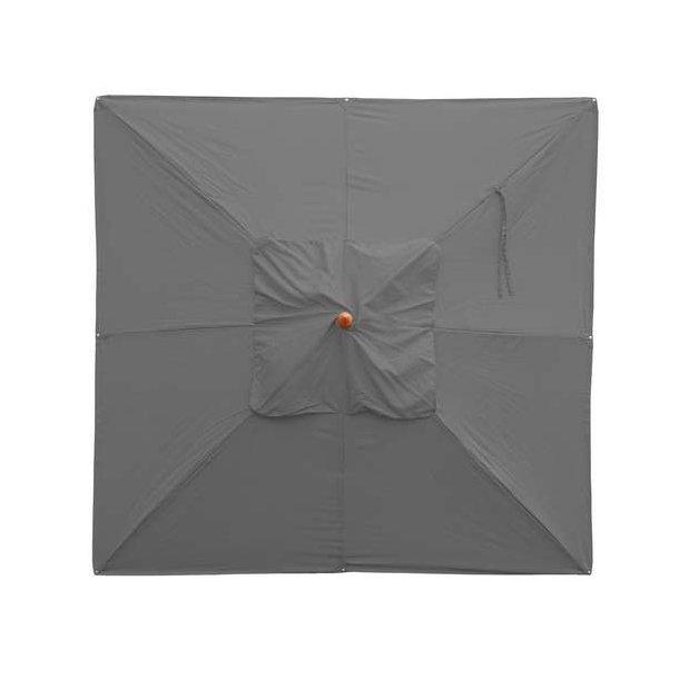 Populære Træparasol - luksus antracit parasol - haveparasol 4x4 meter CO-64