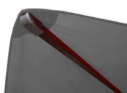 Ultramoderne Træparasol - luksus antracit parasol - haveparasol 4x4 meter MD-77
