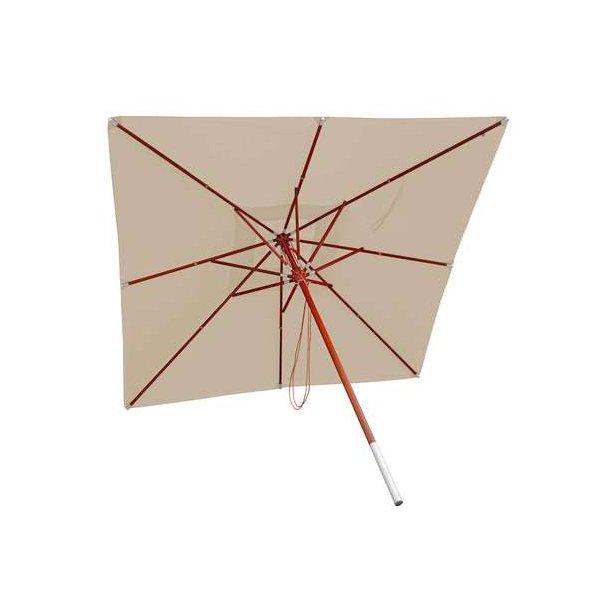 Populære Træparasol - luksus creme/beige parasol - haveparasol 4x4 meter OM-03