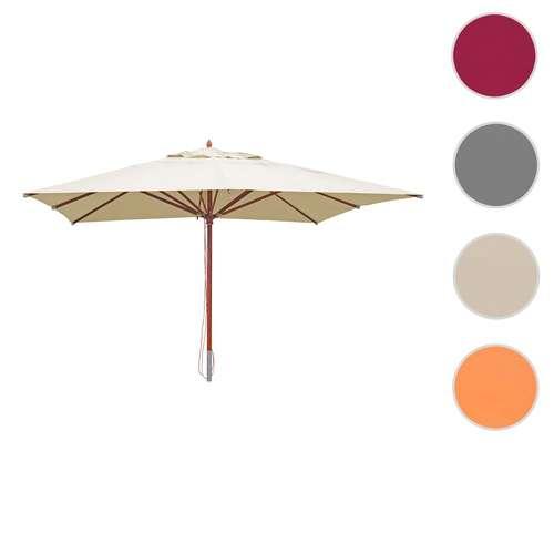 Nye Træparasol - luksus creme/beige parasol - haveparasol 4x4 meter BA-02