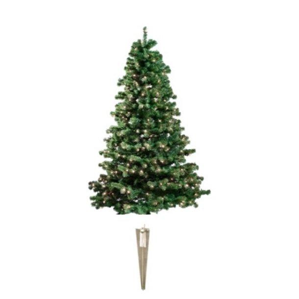 Kunstigt udendørs plastik juletræ på 120 x 82 cm med 110 LED lys