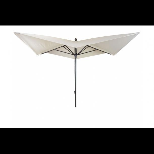 Luksus alu parasol 3x3M - creme haveparasol 4,24 meter