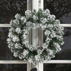 Julebelysning til vindue