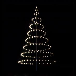 Julelys og lyskæde til flagstang