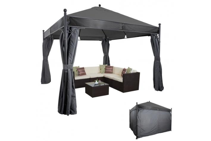 havepavillon 3 5x3 5 meter antrazit pavillon havepavilloner og partytelte havehobby dk. Black Bedroom Furniture Sets. Home Design Ideas