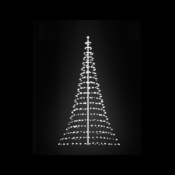 Lysnet til 8 meter flagstang med 640 kold hvid LED lys - luksus cirkellys til lystræ på 8M