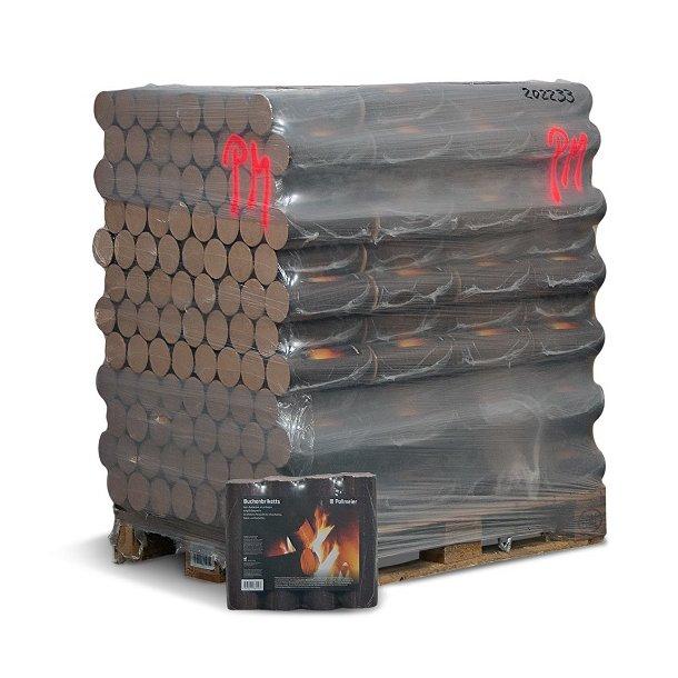 Bøgebriketter - 960 kg Deluxe bøgebriketter