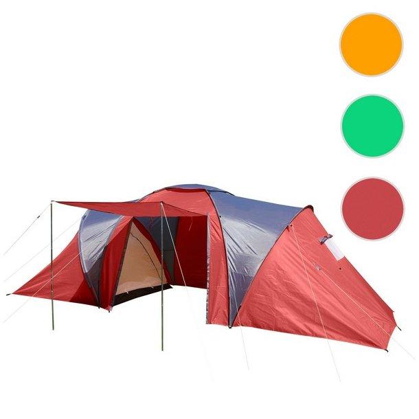 Campingtelt - 4 personers tunneltelt til camping - rødt telt